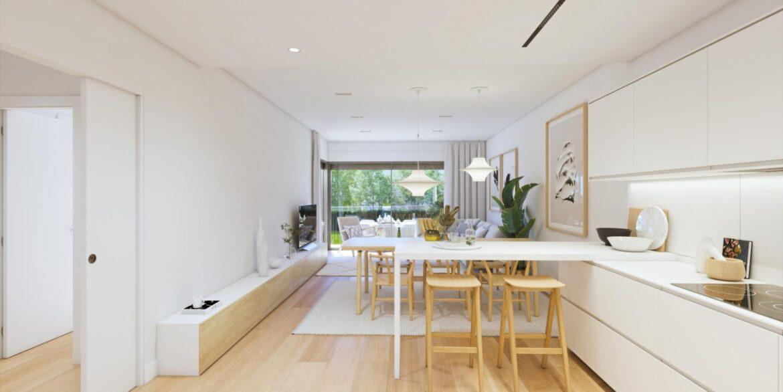 Cocina salón adosado duplex