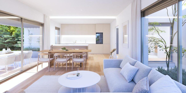 salón-comedor-cocina villa aislada
